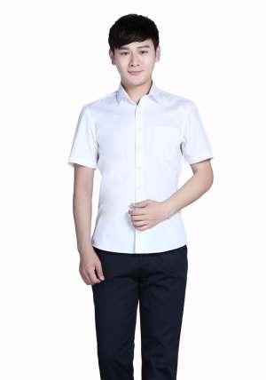 全棉白色正装短袖衬衫
