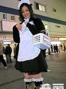 日本街头心爱的促销女郎